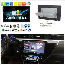 Single Din Android 8.1 10.1 Car Stereo Radio GPS WiFi 3G 4G BT DAB Mirror Link