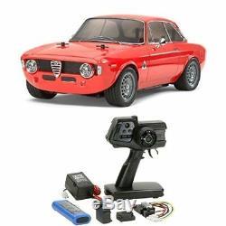 Tamiya 1/10 RC Car No. 486 Alfa Romeo Giulia Sprint GTA M-06 RC Drive Set 58486