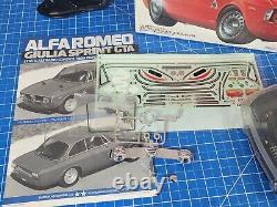 Vintage Tamiya 1/10 RC Alfa Romeo Giulia Sprint GTA M-04M Partial Built With Radio