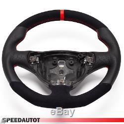 Volant Alcantara Cuir Aplati ALFA ROMEO 147 GT GTA. 24MOISDEGARANTIE