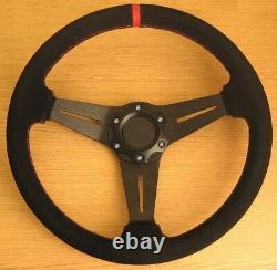 Volante Vera Pelle Cuciture Rosse per Alfa Romeo 145 146 147 155 156 90 GTV GTA