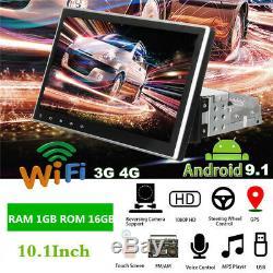 10.1 1din Android 9.1 Gps Bluetooth Head Unit Nav Voiture Radio Stéréo Mp5