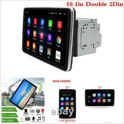 10.1 Rotatable 2 Din Android 9.1 Voiture Wifi Stereo Radio Head Unit Mp5 Gps Navi