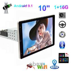 10po 1din Android9.1 Voiture Mp5 Player Rotatable Touch Screen Stéréo Radio Gps Wifi