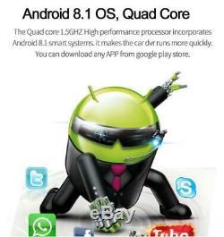 11,66 Android 8.1 2 32g Voiture Rétroviseur Caméra Dvr Dash Gps Wifi Adas 4g