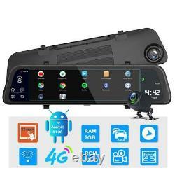 11.66 Voiture Dvr Dash Camera 4g Wifi Gps Navi Bt Rearview Mirror Recorder Adas