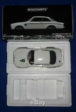 118 100120501 Minichamps Alfa Romeo Gta 1300 Blanc Junior 1972 À Ovp