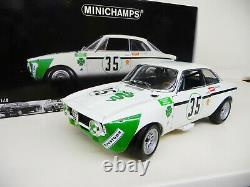 118 Minichamps Alfa Romeo Gta 1300 Junior Jarama 1972 Nouveau