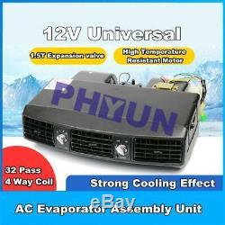 12v Voiture Camion Climatisation 3 Assemblée Évaporateur Vitesse A / C Système Compresseur