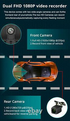 140° 8po Android 8.1 Bt Wifi 4g Gps Front Rear Camera Dash Cam Car Dvr Recorder