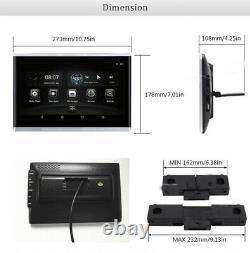 2 Pcs 10.1 Hd Car Headrest Monitor 1080p 1.5go+8 Go Quad-core Hdmi Wifi Bt Obd