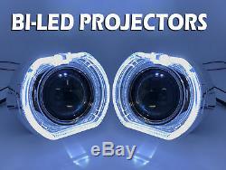2 X 3 Complet Bi-led Retrofit Projecteurs Objectif H1 H7 H4 Halo Suaire Xenon Hid Blanc