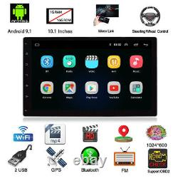 2din 10.1in Android 9.1 4 Core Voiture Stereo Radio Mp5 Lecteur Gps Sat Navi Wifi Fm