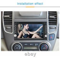 2din 6.2 Car Stereo Sat Nav Gps Lecteur DVD Miroir Lien Usb Radio Wifi 4g / 3g