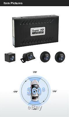 360 ° Hd Vue Panoramique Voiture Caméra D'enregistrement Dvr Suv 4 Rearview Système Étanche