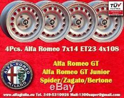 4 Cerchi Alfa Romeo Giulia Gt 7x14 Et23 Gta Roues Felgen Llantas De Tuv