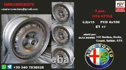 4 Cerchi Lega Alfa Romeo Giulia Gta 6,5x15 4x108 Roues Felgen Llantas Jantes