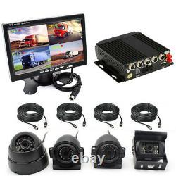 4ch Autobus Dvr Gps Enregistreur Vidéo En Temps Réel Box+7'' Hd Monitor+4 Pcs Caméras CCD