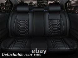 6d Surround Full Set Pu Cuir Siège D'auto Coussin Accessoires Intérieurs Auto