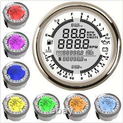 6in1 Multifonction 7 Couleurs Led Gps Speedometer Tachometer Oil Pressure Voltmeter