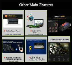7en 1din Voiture Stereo Radio Fm Mp5 Lecteur Android 9.1 Sat Gps Nav Avec 4led Cams