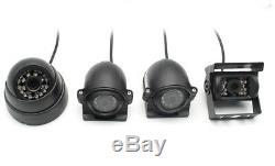 7lcd Moniteur + 4ch Dvr Box + 4 Pcs Night Vision Kit Caméra Hd Pour Véhicule Camion Van