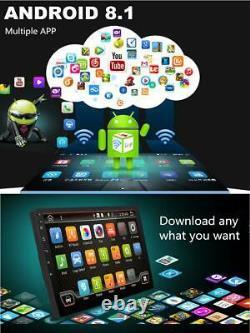 8inch Simple Din Android 8.1 Car Stereo Radio Gps Wifi 3g 4g Miroir Lien + Caméra