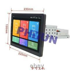 9'' 1 Din Écran Tactile Quad-core 1+16go Car Stereo Radio Bt Gps Wifi 4g Dab Dvr