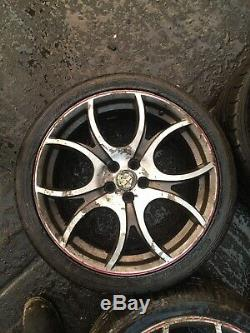 Alfa Romeo 147 Ducati Corse 18 Jantes En Alliage Et Pneus Jeu De 4 156 Gt Gta