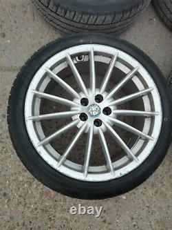 Alfa Romeo 147 Gta 156 Gt 18 Pouces 5x98mm Jetfin Jantes En Alliage Avec Des Pneus Neufs