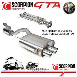 Alfa Romeo 147 Gta 3.2 V6 Scorpion Decat Performance Stainless Steel Exhaust