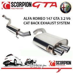 Alfa Romeo 147 Gta Scorpion Cat Retour Performance D'échappement En Acier Inoxydable Système