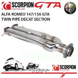 Alfa Romeo 156 Gta 3.2 V6 Scorpion Decat Double Tuyau Section (enlève Les Chats)