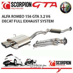 Alfa Romeo 156 Gta Saloon Scorpion Performance Decat Échappement En Acier Inoxydable