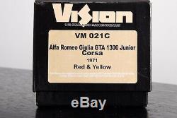 Alfa Romeo Giulia Gta 1300 Junior Corsa 1/43 Make Up Vision, Pas Bbr, Mr