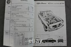Alfa Romeo Giulia Sprint Gta Uso E Manutenzione Top Juni 1965 Italienisch
