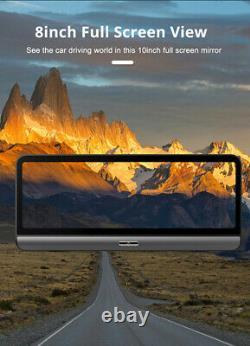Android 8.1 8po Fhd Voiture Dvr Dash Cam Gps Nav Wifi Adas Enregistreur +caméra De Recul