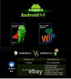 Android 9.0 1din 10.1in Gps Sat Nav Voiture Stéréo Bluetooth Wifi Radio Fm 2+32go
