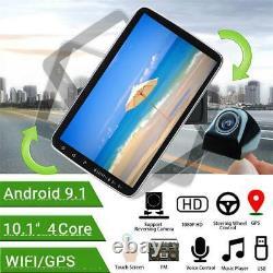Android 9.1 10po 1din Car Fm Stereo Radio Bluetooth Wifi Mp5 Player Gps Sat Nav