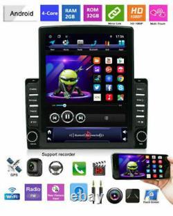 Android9.1 2din 10.1dans Bt Voiture Stereo Radio Sat Nav Gps Wifi Audio Usb Mp5 Lecteur