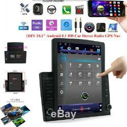 Bluetooth Voiture Mp5 Lecteur Multimédia Stéréo Gps Sat Navi Radio Android 8.1 10.1in