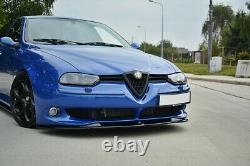 Coupe Spoilerlippe Front Ansatz V. 1 Passend Für Alfa Romeo 156 Gta Schwarz Matt