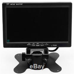 Dc12-24v 4ch Dvr Video Recorder Box + 4night Vision Caméras Hd + 7 Moniteur Voiture Suv