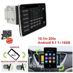 Double 2din 10.1in Android 9.1 Voiture Fm Stereo Radio Mp5 Lecteur Gps Sat Nav Caméra