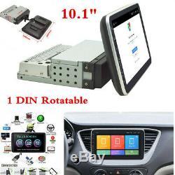 Écran Tactile 10.1 Simple Din 4-core Android 8.1 Gps Rotatif Voiture Wifi Dab Obd