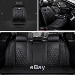 En Cuir Respirant Car Seat Cover Pleine Surround 3d Coussin D'assise De Luxe