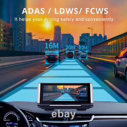 Full Hd 1080p 7in Car Dashboard Gps Nav Dual Lens Dvr Enregistreur De Conduite Vue Arrière