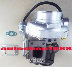 Gt30 Gt3076 T25 A / R. 70 A / R. 86 Wastegate Eau Et Huile 2,5 Turbocompresseur V-bande New