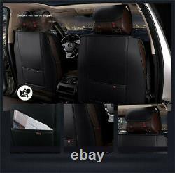 Le Siège D'auto En Cuir Beige Couvre L'ensemble Complet Avant+arrière Adapté Aux Accessoires Intérieurs