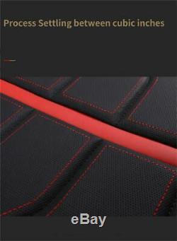 Noir / Rouge Pu Cuir 5 Sièges Coussin De Siège De Voiture Pour L'intérieur Accessoires